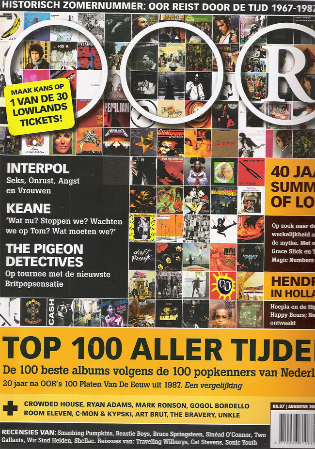 40 jaar oor Oor   Top 100 aller tijden (zomer 2007) 40 jaar oor